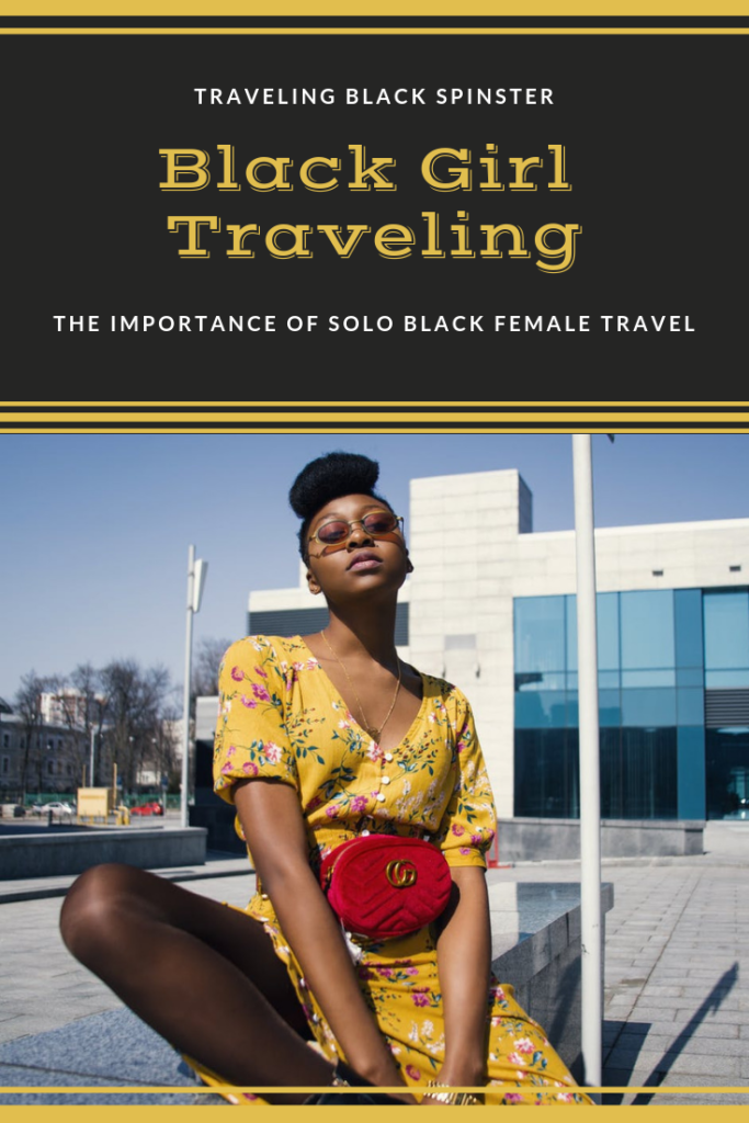 black girl traveling alt image. solo black female travel image